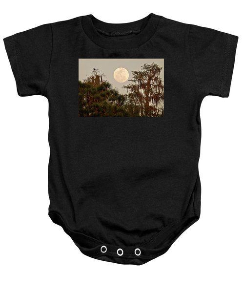 Moonrise Over Southern Pines Baby Onesie