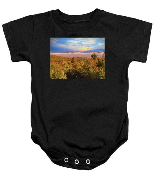 Morning Autumn Landscape Northern New Hampshire Baby Onesie