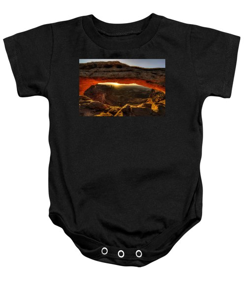 Morning Glow At Mesa Arch Baby Onesie