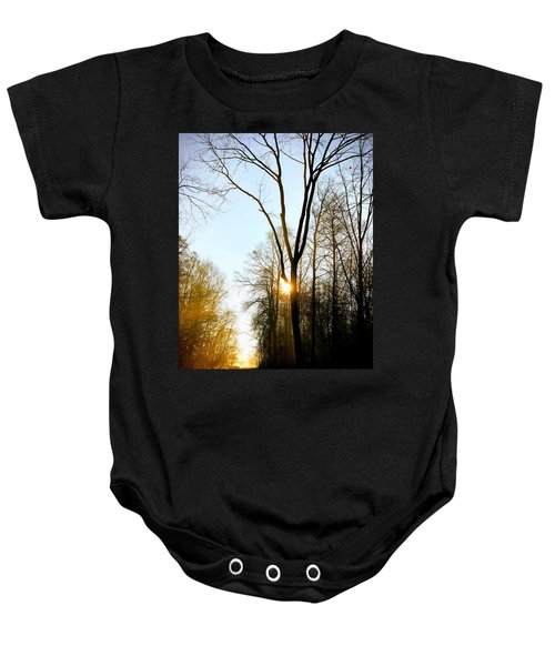 Morning Mood In The Forest Baby Onesie