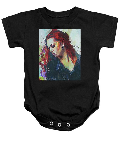 Mostly- Abstract Portrait Baby Onesie