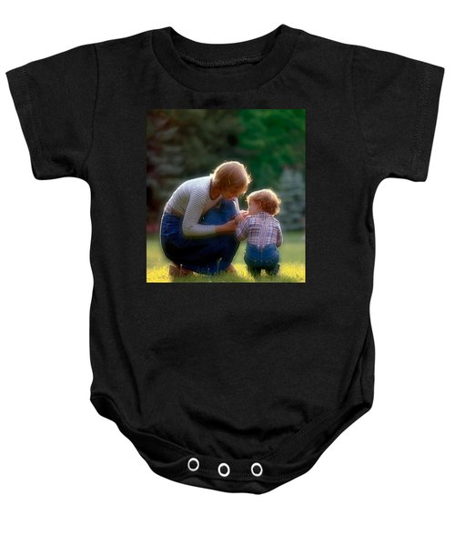 Mother With Kid Baby Onesie