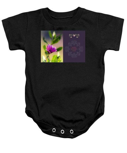 Mother's Day Flower Baby Onesie