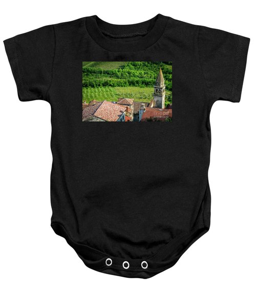 Motovun Istrian Hill Town - A View From The Ramparts, Istria, Croatia Baby Onesie