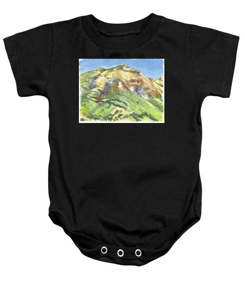 Mount Diablo From Curry Valley Ridge Baby Onesie