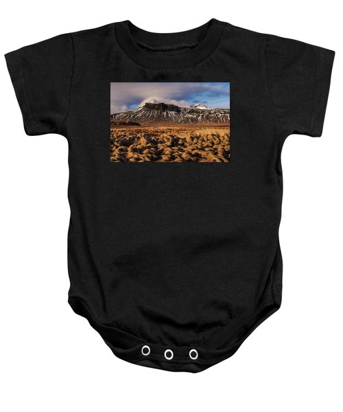 Mountain And Land, Iceland Baby Onesie