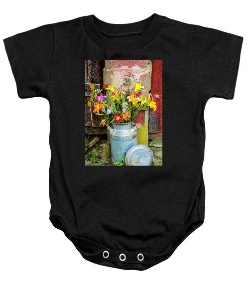 Mountain Bouquet Baby Onesie