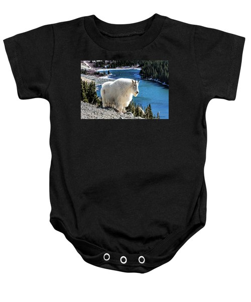 Mountain Goat At Lower Blue Lake Baby Onesie