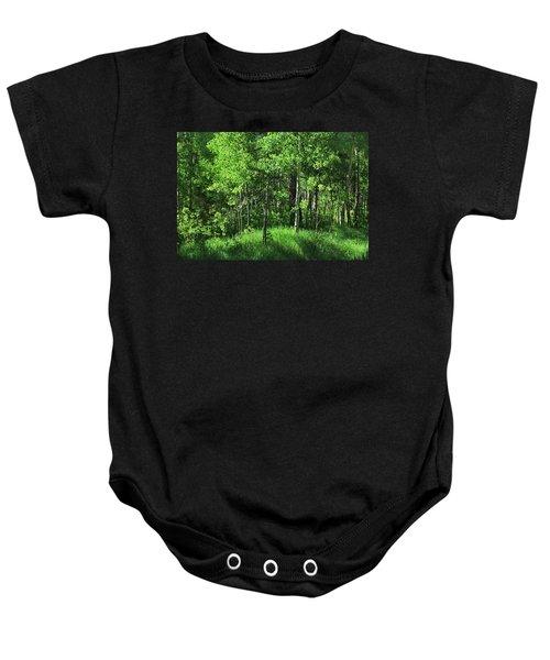 Mountain Greenery Baby Onesie