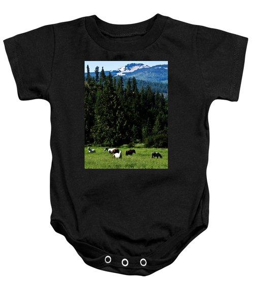 Mountain Herd Baby Onesie