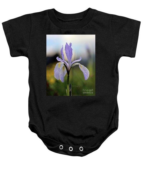 Mountain Iris With Bud Baby Onesie