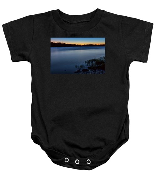Baby Onesie featuring the photograph Mountain Lake Glow by James BO Insogna