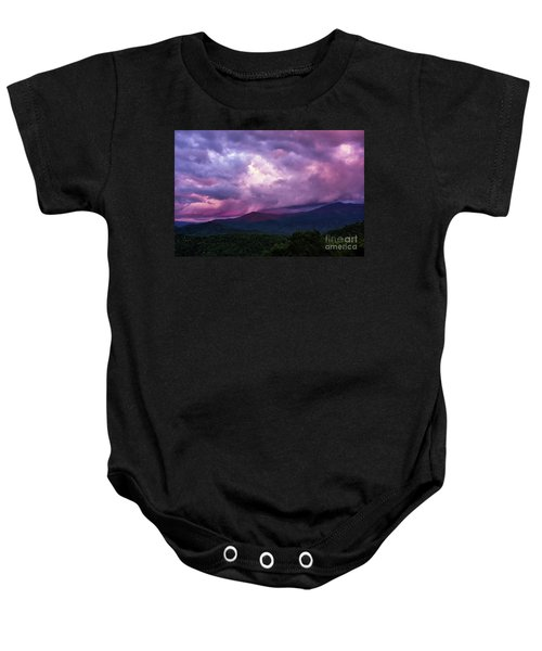 Mountain Sunset In The East Baby Onesie