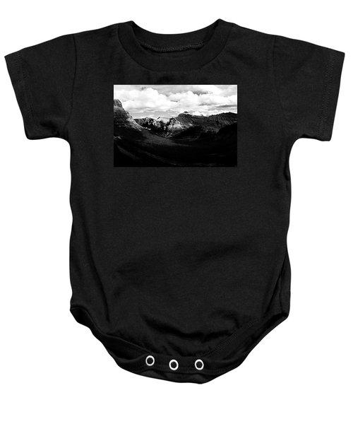 Mountain Valley Landscape Baby Onesie