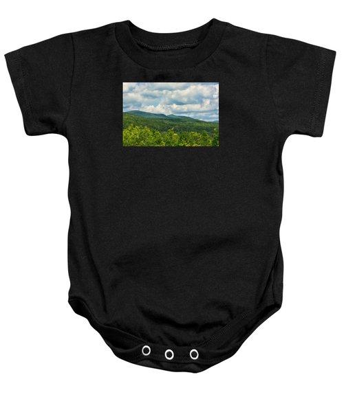 Mountain Vista In Summer Baby Onesie