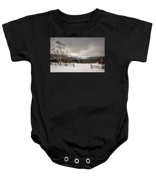 Mountains In Winter Baby Onesie