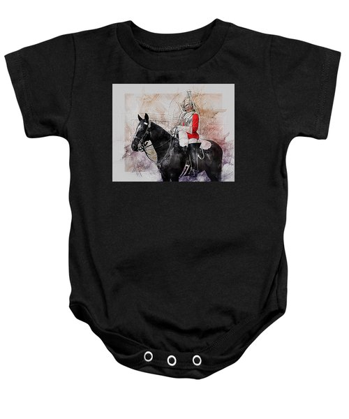 Mounted Household Cavalry Soldier On Guard Duty In Whitehall Lon Baby Onesie