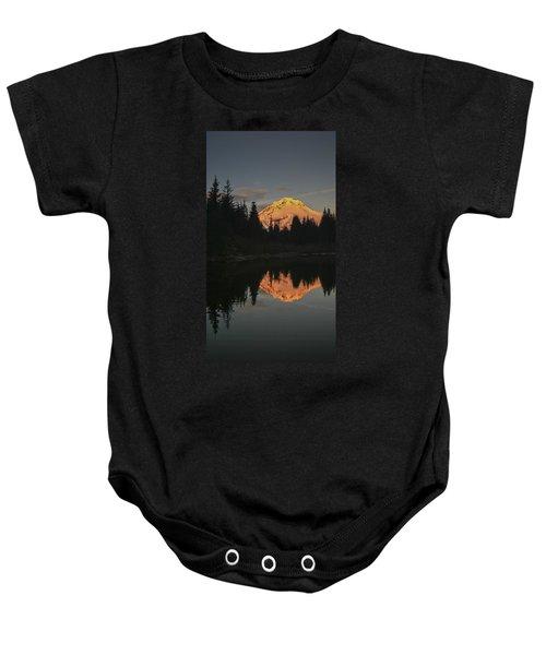 Mt Hood Alpenglow II Baby Onesie