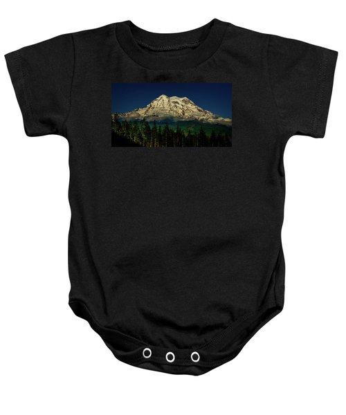 Mt Rainier Baby Onesie
