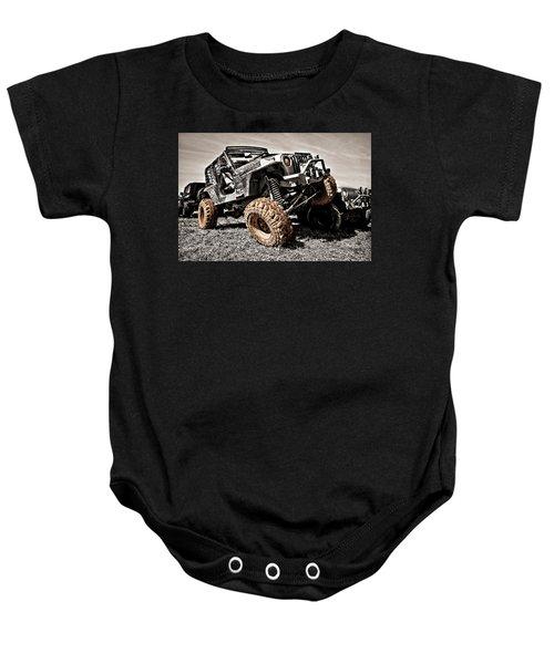 Muddy Super Swamper Tj Baby Onesie