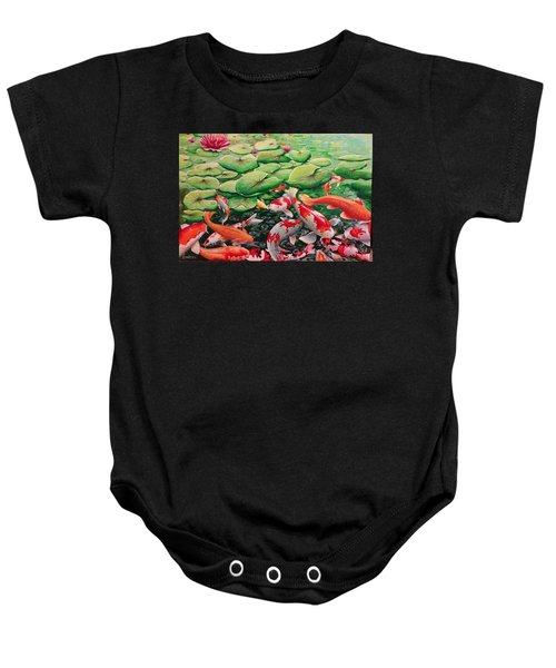 My Backyard Pond Baby Onesie