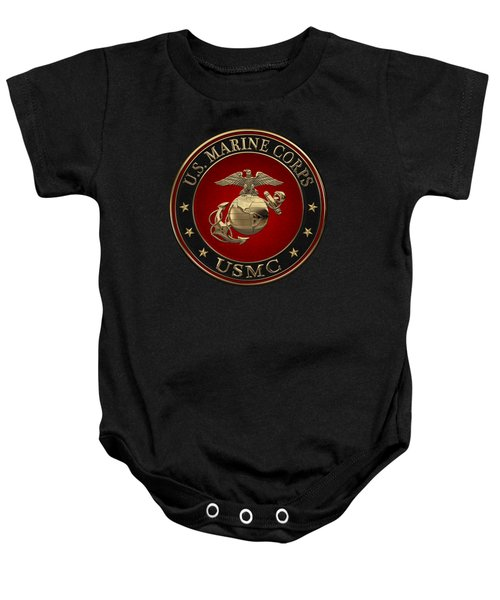 N C O And Enlisted E G A Special Edition Over Black Velvet Baby Onesie