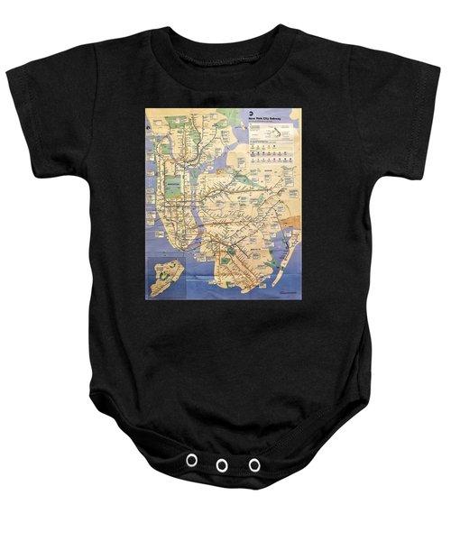 N Y C Subway Map Baby Onesie