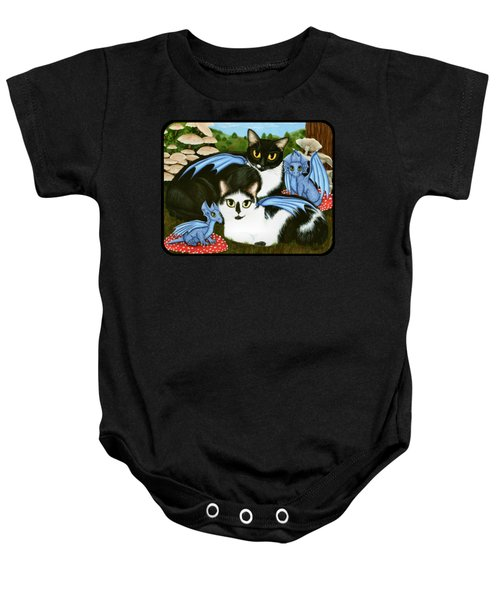Nami And Rookia's Dragons - Tuxedo Cats Baby Onesie