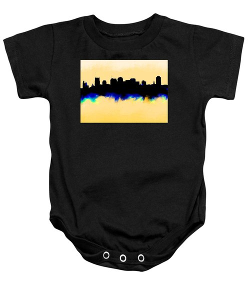 Nashville  Skyline  Baby Onesie by Enki Art