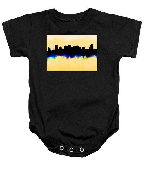 Nashville  Skyline  Baby Onesie by Enki Art