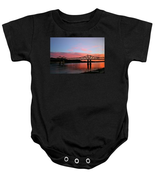Natchez Sunset Baby Onesie