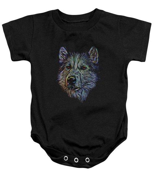 Neon Husky Baby Onesie