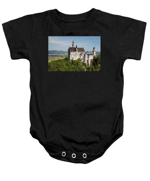 Neuschwanstein Castle With Village Baby Onesie