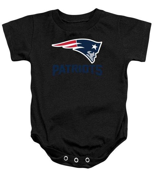 New England Patriots Translucent Steel Baby Onesie