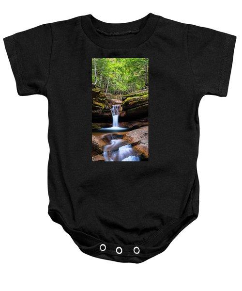New Hampshire Sabbaday Falls And Fall Foliage Panorama Baby Onesie