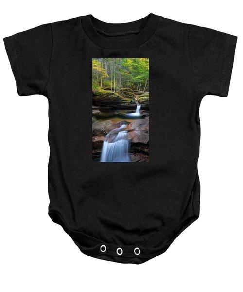 New Hampshire Sabbaday Falls Panorama Baby Onesie