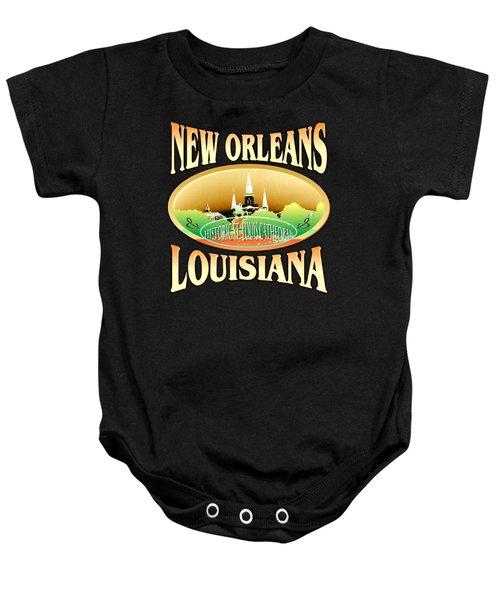 New Orleans Louisiana Design Baby Onesie