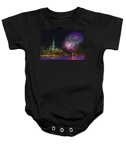 New York City Summer Fireworks Baby Onesie