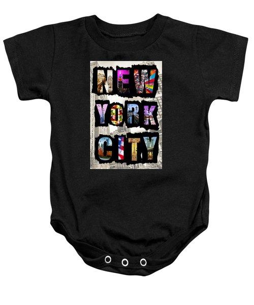 New York City Text Baby Onesie