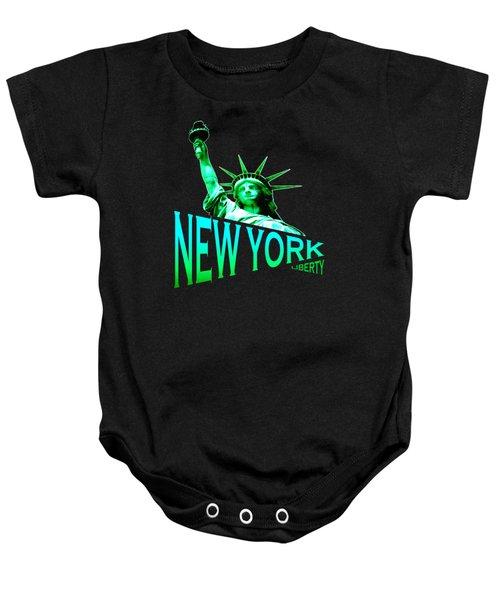 New York Liberty Design Baby Onesie