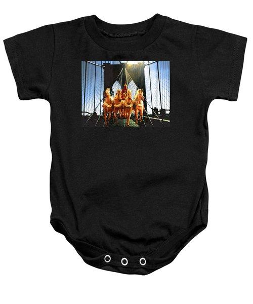 New York Brooklyn Bridge Fantasy Collage Baby Onesie