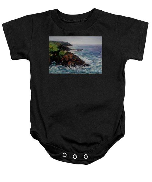 Newlyn Cliffs 2 Baby Onesie