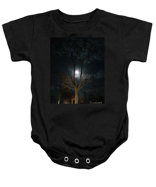 Night At The Graveyard Baby Onesie
