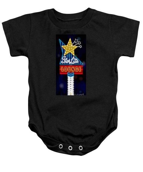 Nightclub Sign Starlite Lounge Baby Onesie