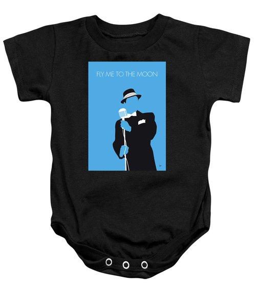 No059 My Sinatra Minimal Music Poster Baby Onesie