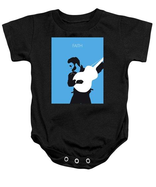 No089 My George Michael Minimal Music Poster Baby Onesie