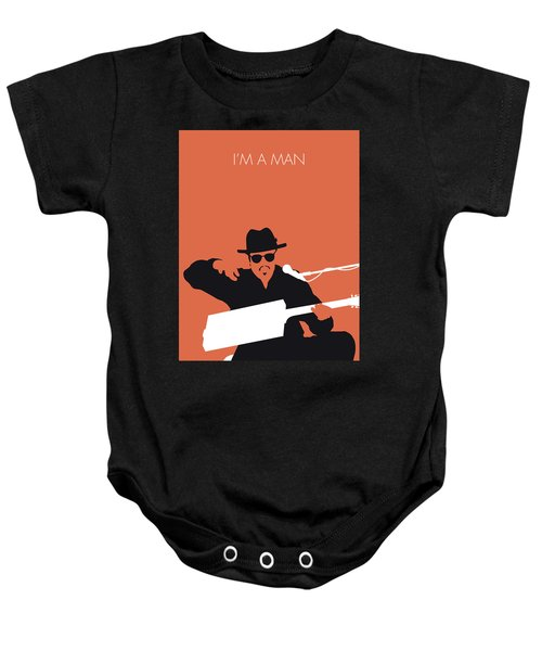 No103 My Bo Diddley Minimal Music Poster Baby Onesie