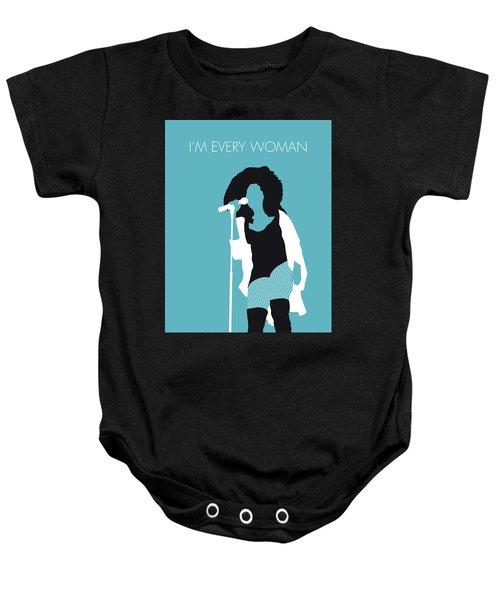 No155 My Chaka Khan Minimal Music Poster Baby Onesie