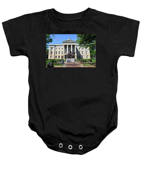 North Carolina State Capitol Building With Statue Baby Onesie