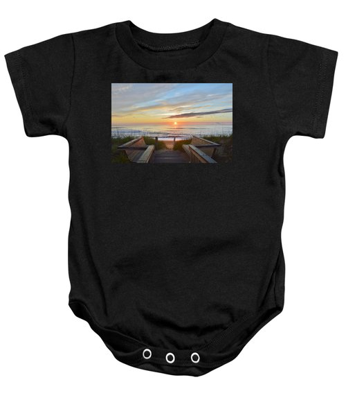 North Carolina Sunrise Baby Onesie